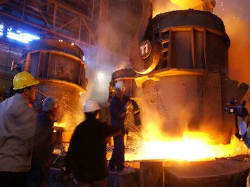 تداوم کاهش تولید فولاد در آمریکا