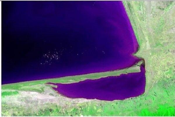 تشخیص کاهش سطح آب خلیج گرگان با تصاویر ماهوارهای