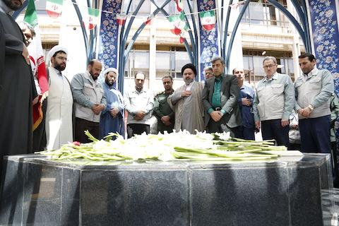 بزرگداشت شهدای گمنام مدفون در فولاد مبارکه با سخنرانی حجت الاسلام صغیرا