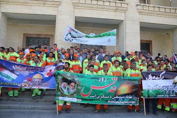 مراسم راهپیمایی روز جهانی قدس در میدان امام خمینی اصفهان