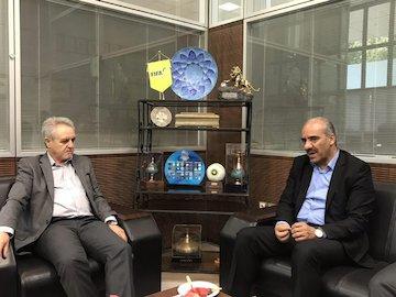 نشست رئیس فدراسیون دوچرخه سواری با مسعود تابش