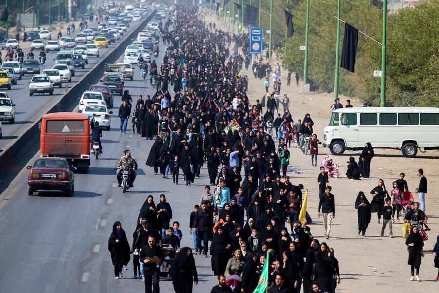 پیاده روی جاماندگان اربعین حسینی در اصفهان