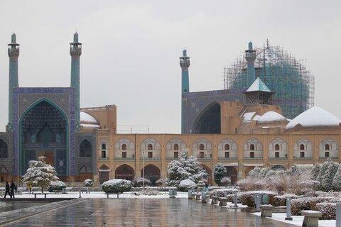 بارش برف زمستانی دراصفهان- دی 98