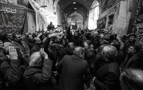 مراسم عزاداری حضرت زهرا در بازار اصفهان