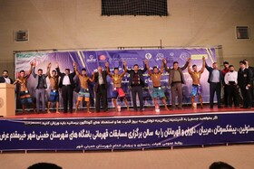 شور و هیجان در مسابقات بدنسازی شهرستان خمینی شهر