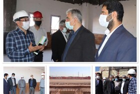 بازدید مدیرعامل شرکت مس از پروژه احداث ورزشگاه رفسنجان
