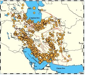 قرار گرفتن فارس و گلستان در مناطق فعال لرزهزا