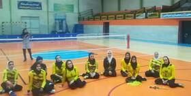 پیروزی دختران سپاهانی مقابل تیم والیبال نشسته هیات هرمزگان