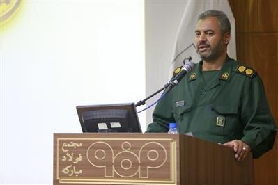 علی اصغر عطایی فرمانده بسیج مبارکه