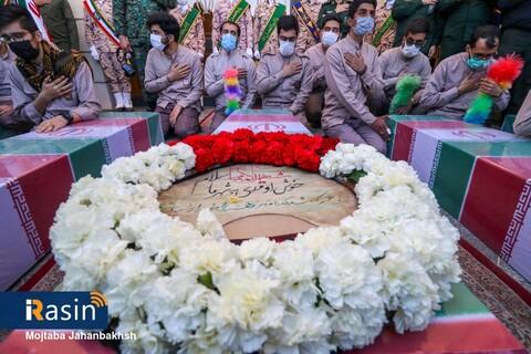 ورود پیکر 5 شهید گمنام دفاع مقدس به اصفهان
