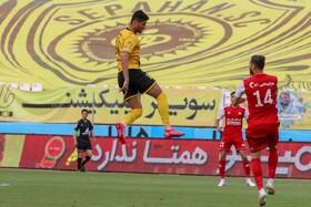 برد سه امتیازی تیم فوتبال سپاهان مقابل تراکتور  عکس:مجتبی جهان بخش