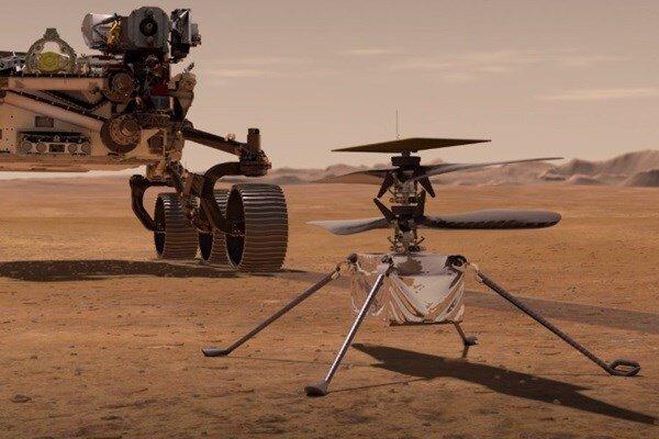 """بالگرد مریخی """"نبوغ"""" تیغههای خود را برای پرواز گشود"""