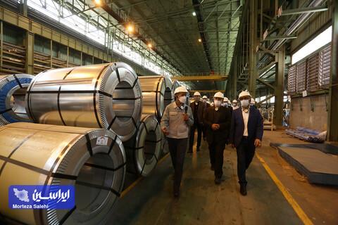 بازدید مدیران شرکت ایرانسل از کارخانه فولاد مبارکه