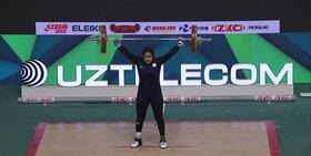 درخشش دختر وزنهبردار لنجانی در جهان