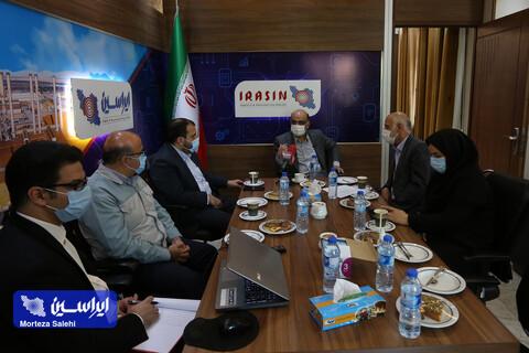 حضور مدیر عامل شرکت فولاد مبارکه در دفتر پایگاه خبری ایراسین
