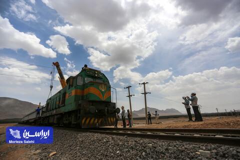 آیین افتتاح و بهره برداری اتصال پل ریلی جدید مجتمع فولاد سبا به راه آهن جمهوری اسلامی ایران