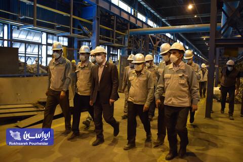 بازدید مدیرعامل شرکت فولادمبارکه از روند انجام اصلاحات و تکمیل توسعه واحدهای ریخته گری و نورد گرم مجتمع فولاد سبا