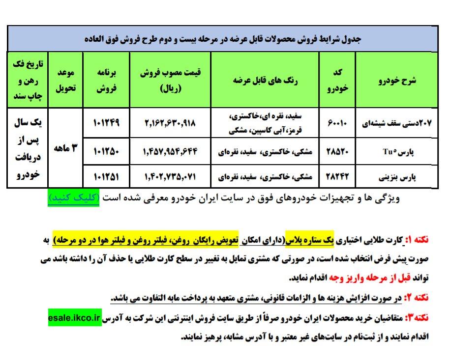 فروش فوق العاده محصولات ایران خودرو + جزئیات، نحوه ثبت نام و سایت
